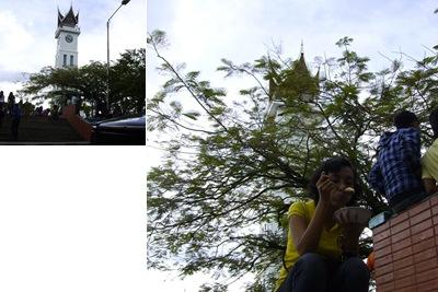 View ngemil di jam gadang